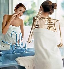 Eating Disorders. mirror skin and bones